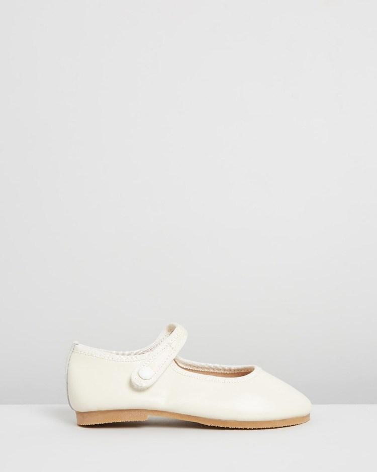 Little Fox Shoes Angel Ballet Flats Ivory