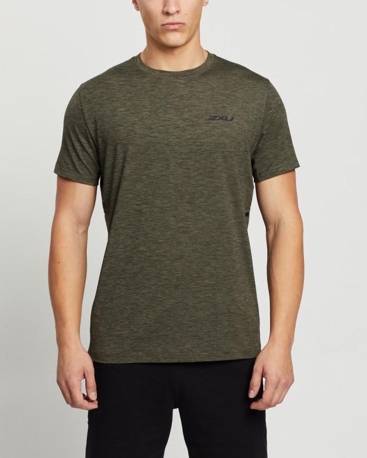 2XU Motion Training Tee Short Sleeve T-Shirts Alpine & Black