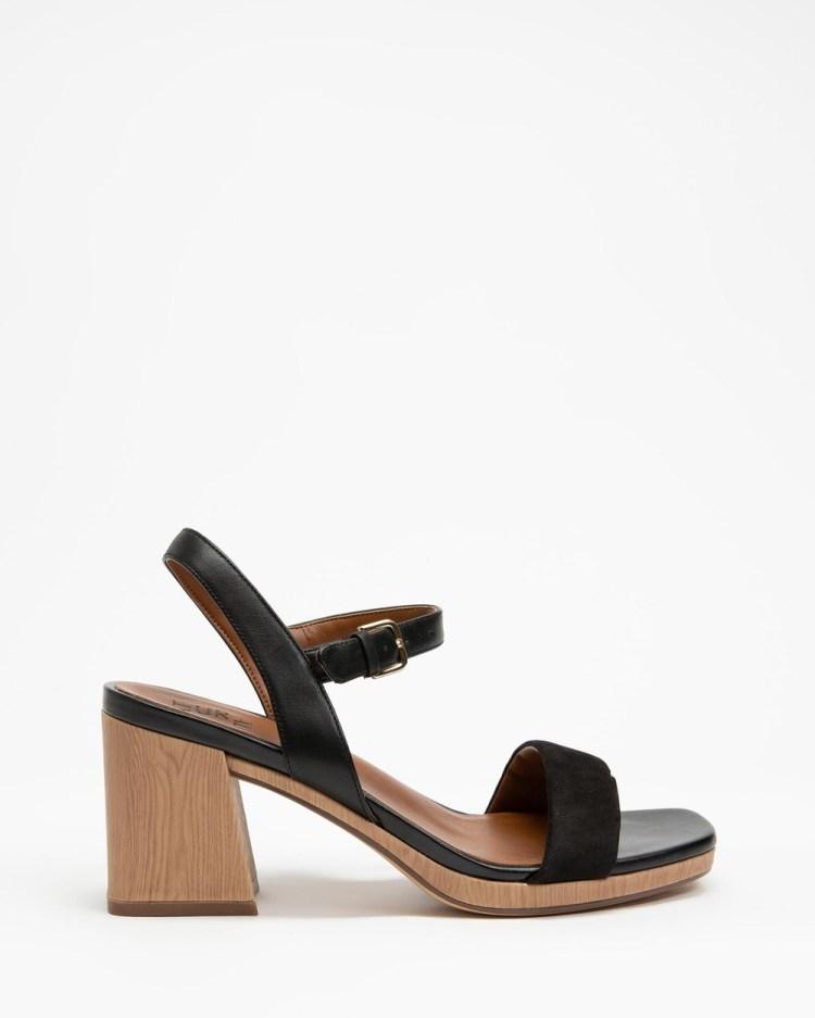 Naturalizer Rose Block Heel Sandals Black