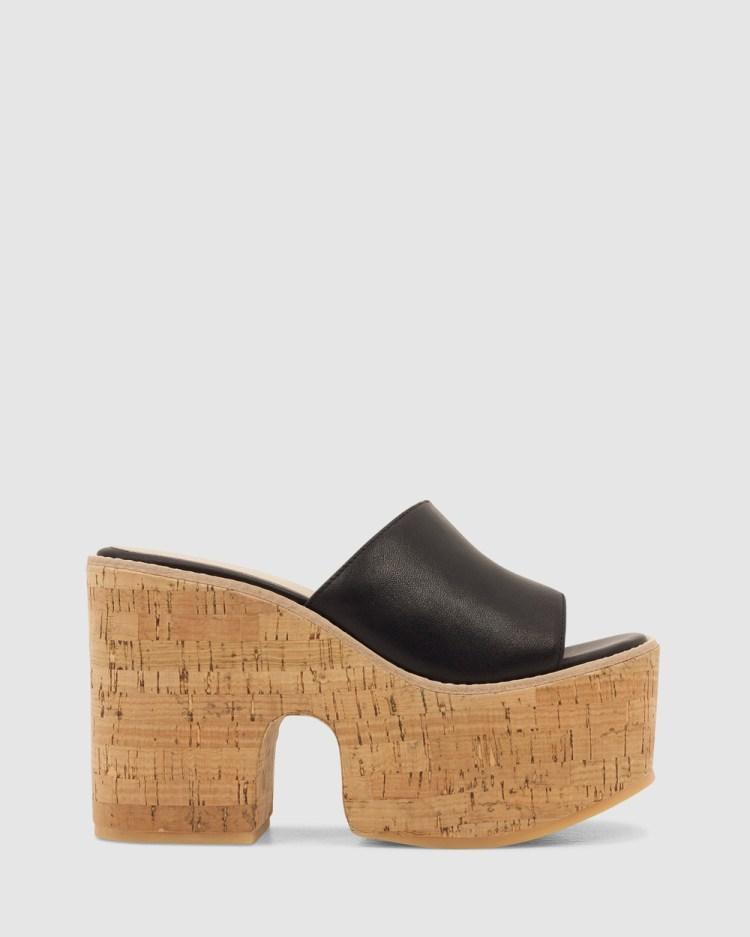 ROC Boots Australia Pucci Wedges Black