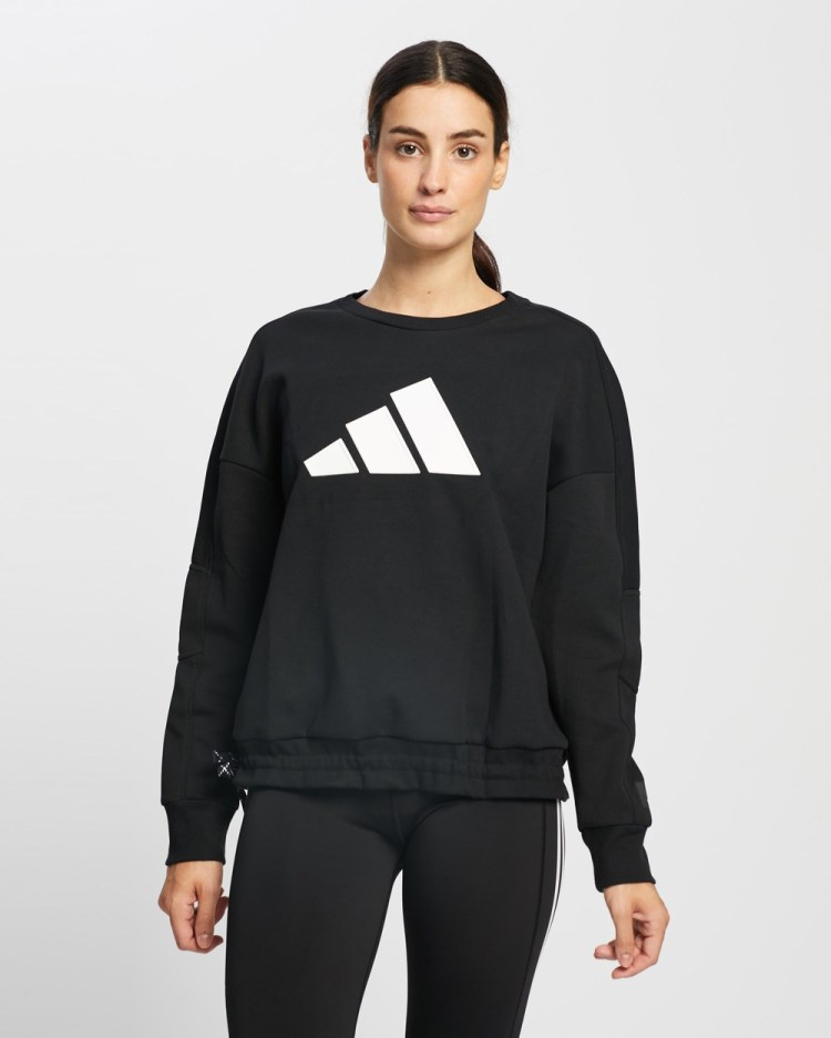 adidas Performance Drawstring Training Sweater Sweats Black
