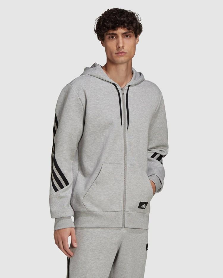 adidas Performance Sportswear Future Icons 3 Stripes Hoodie Hoodies Grey 3-Stripes