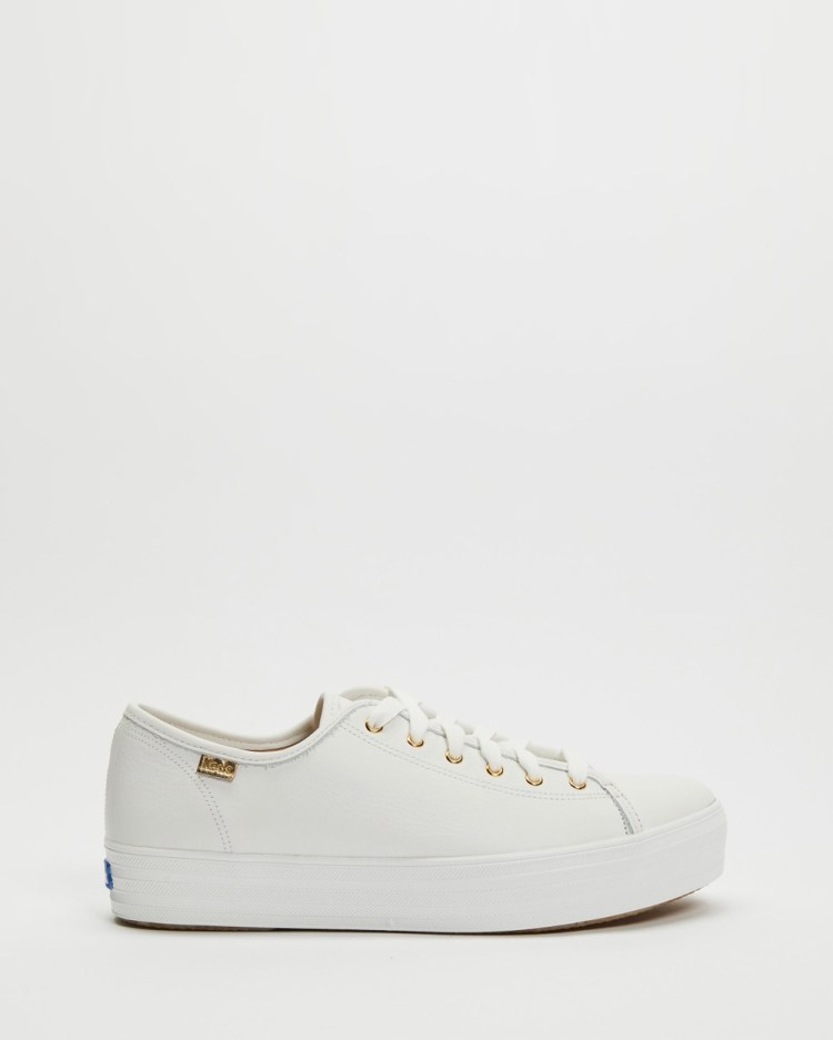 Keds Triple Kick Luxe Leather Sneakers White