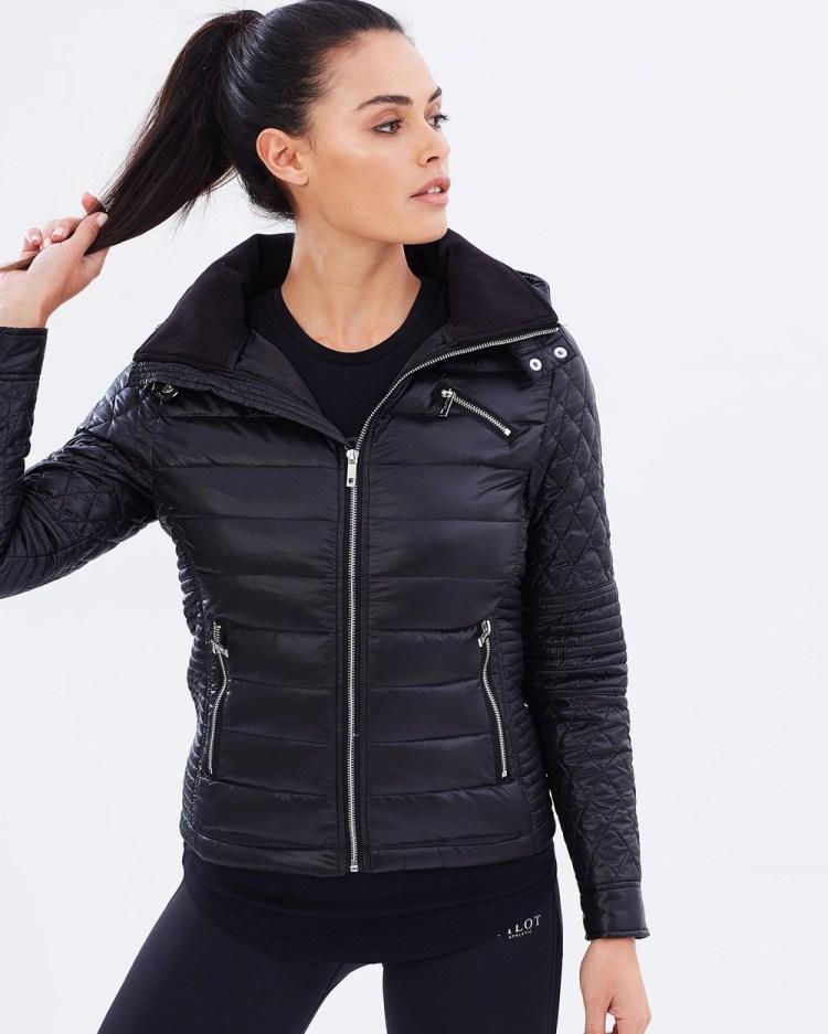 Pilot Athletic Florence Biker Puffer Jacket Coats & Jackets Black