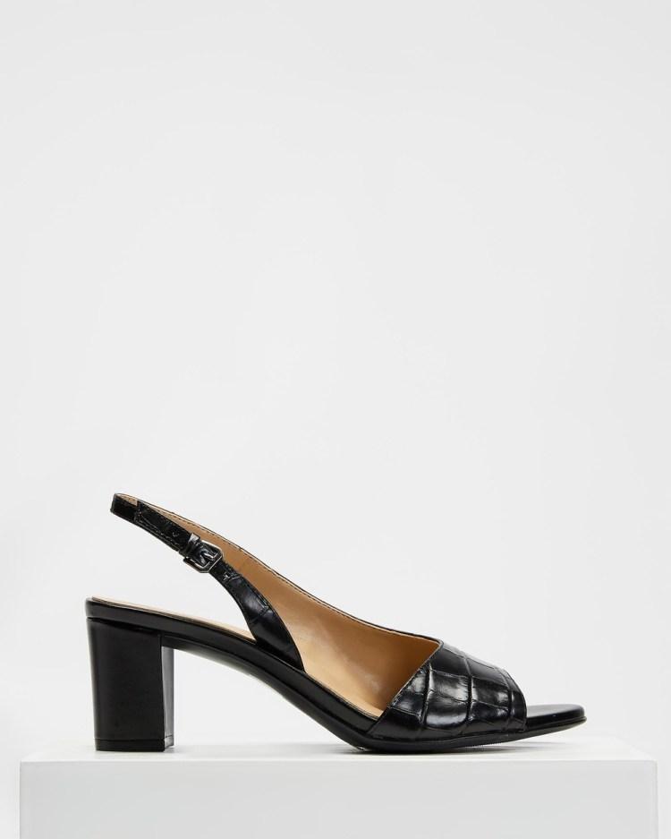Naturalizer Vale Slingback Mid-low heels Black Croco