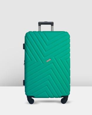 JETT BLACK - Emerald Maze Short Stay Luggage Set - Bags (Green) Emerald Maze Short Stay Luggage Set