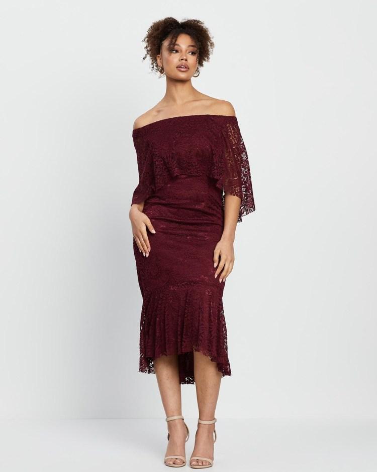 Montique Chance Cocktail Dress Dresses Merlot