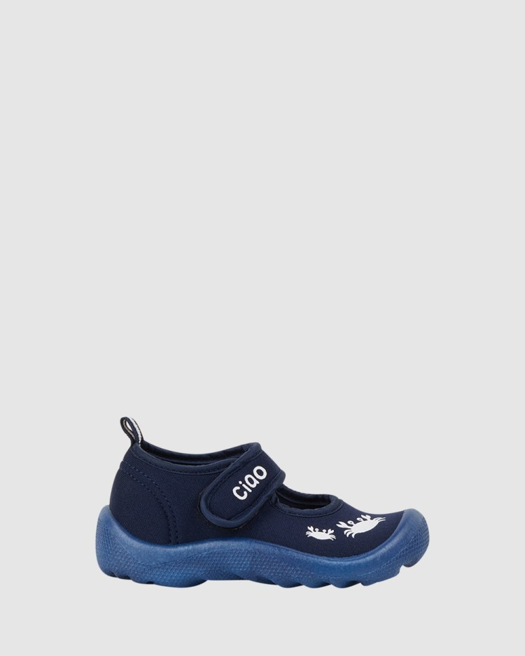 CIAO Beach Classic Crab Sandals Navy/White