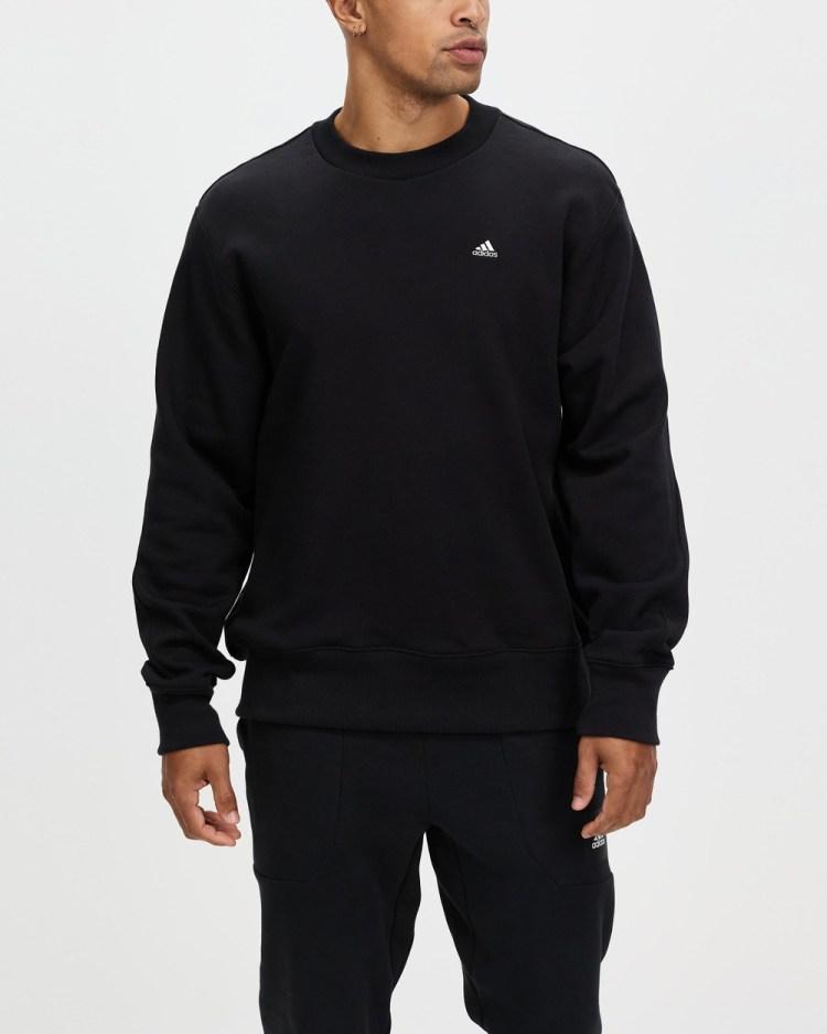 adidas Performance Comfy & Chill Sweatshirt Crew Necks Black