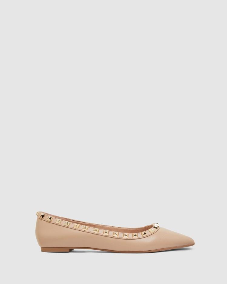 Pink Inc Iggy Ballet Flats NUDE