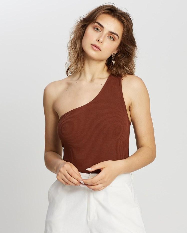RUNAWAY Lulu Bodysuit Tops Chocolate