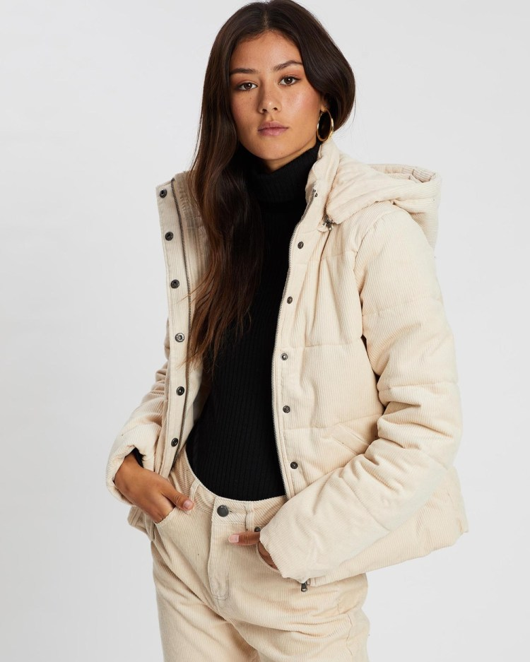 All About Eve Cali Cord Puffer Jacket Coats & Jackets VINTAGE WHITE