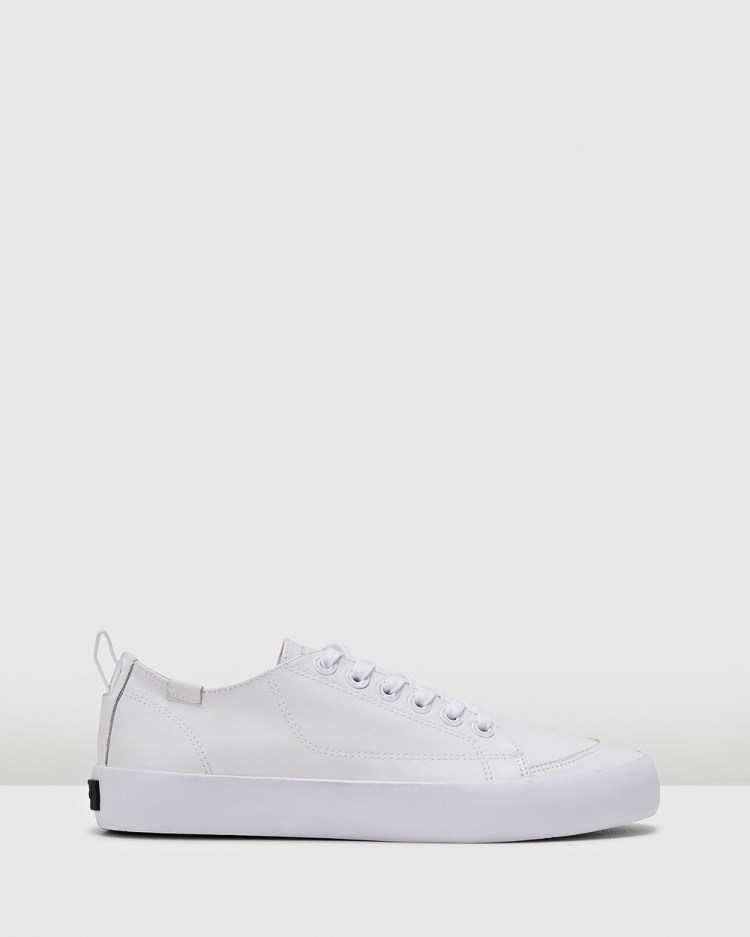 Volley Deuce Leather Low Top Sneakers White Leather