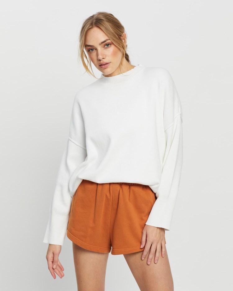 All Fenix Lara Lounge Sweater Sweats White