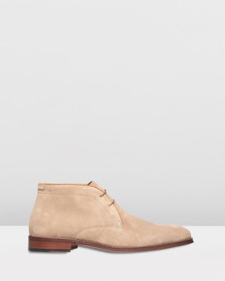 3 Wise Men The Vedder Boots Cognac Suede