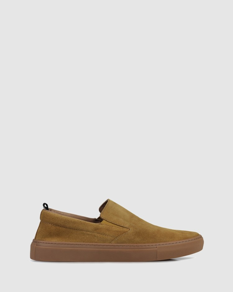 Brando Nathan Slip on sneakers Casual Shoes BROWN-200 Slip-on