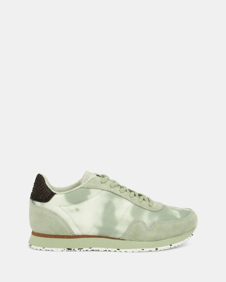 Woden Nora Tie Dye Sneakers Green