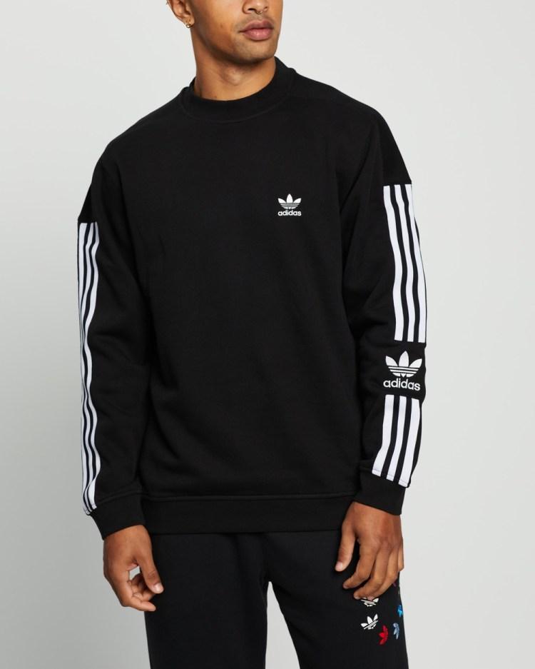 adidas Originals Lock Up Crew Sweats Black