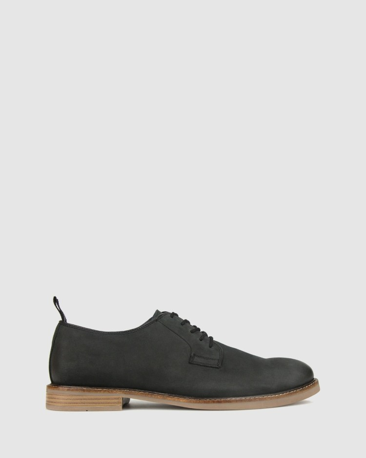 ZU Access Nubuck Leather Shoes Casual Black