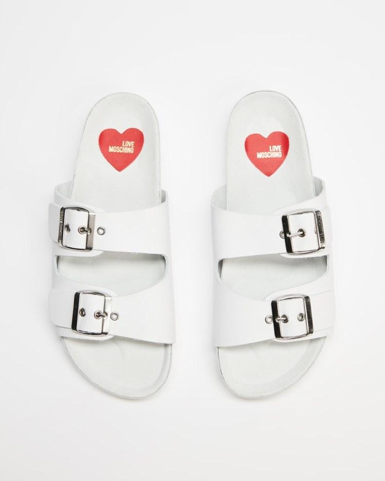 LOVE MOSCHINO Love Moschino Slides Sandals Bianco
