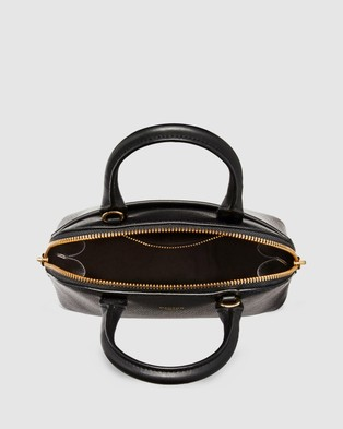 Oroton - Muse Micro Grip Top - Bags (Black) Muse Micro Grip Top