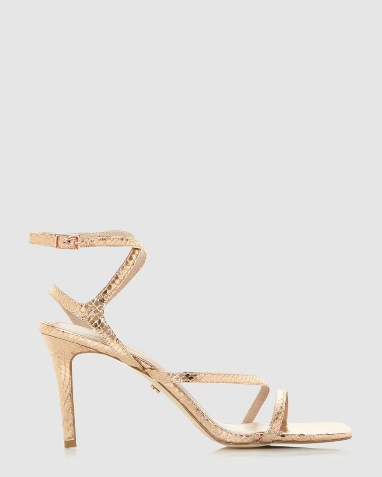 Dune London Mighteys Sandals Rose Gold
