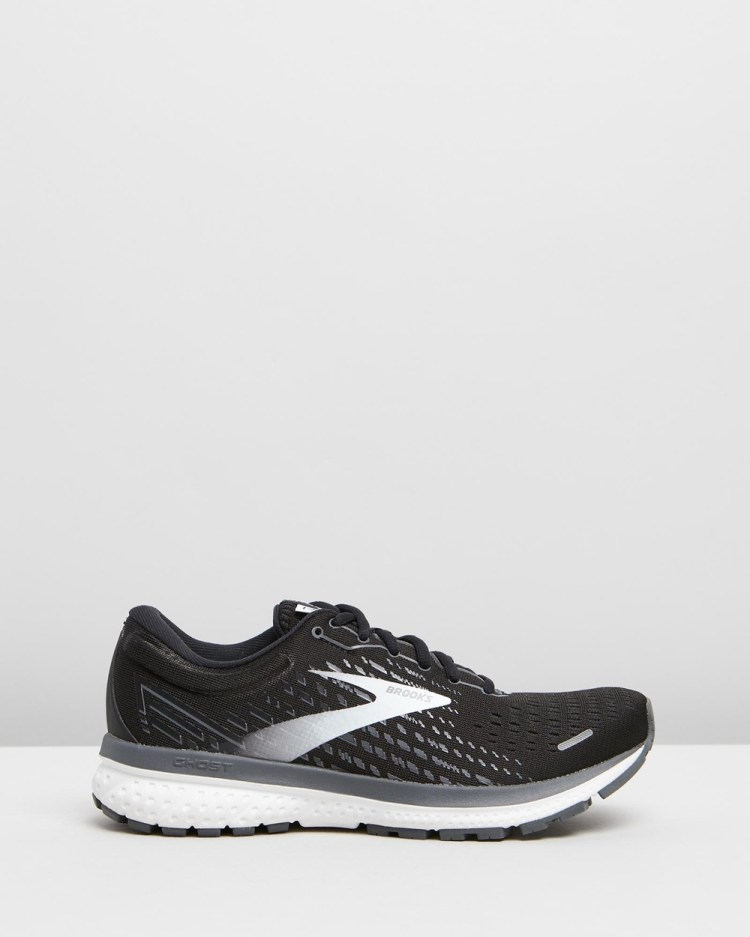 Brooks Ghost 13 Womens Outdoor Shoes Black & White