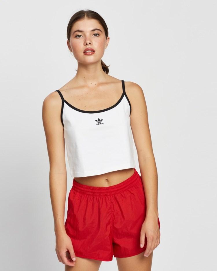 adidas Originals Tank Cropped tops White & Black