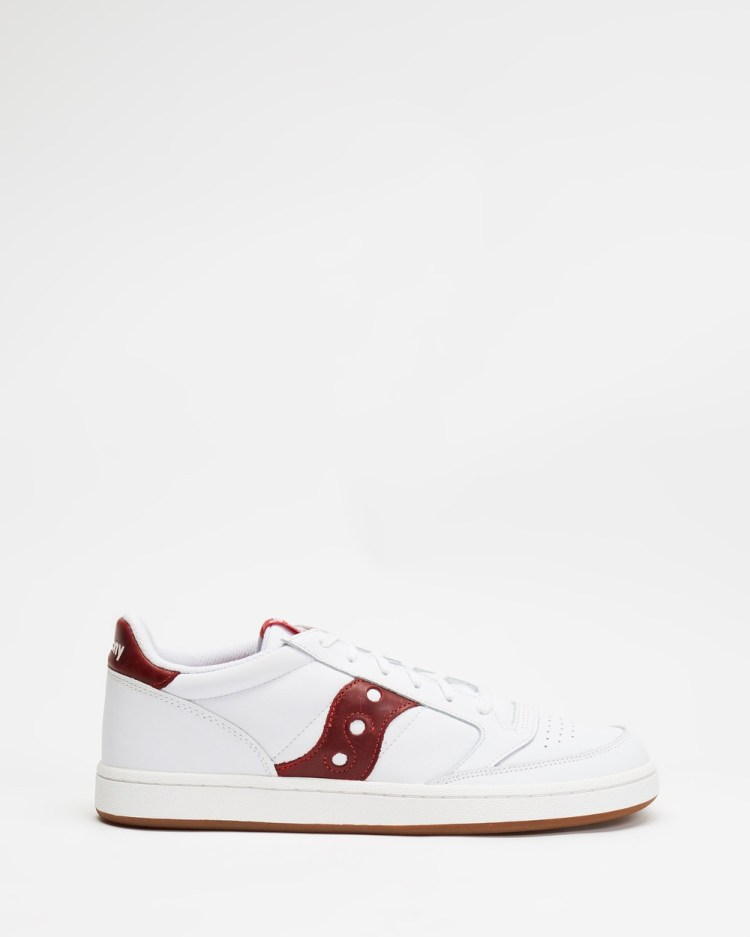 Saucony Jazz Court Men's Lifestyle Sneakers White & Red
