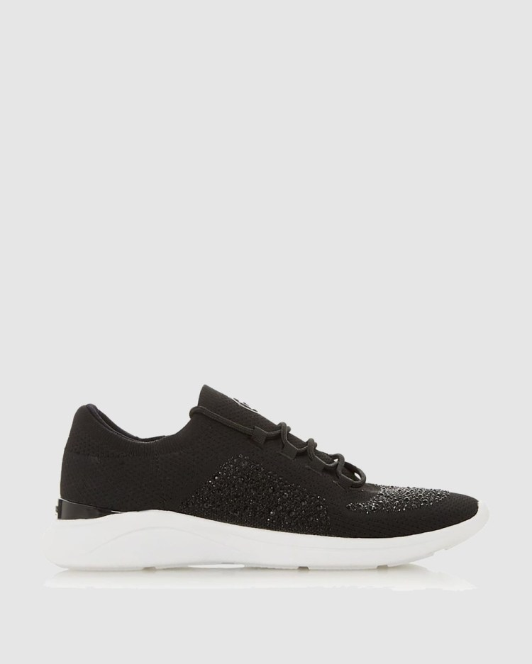 Dune London Easy Lace Up Sneakers Black