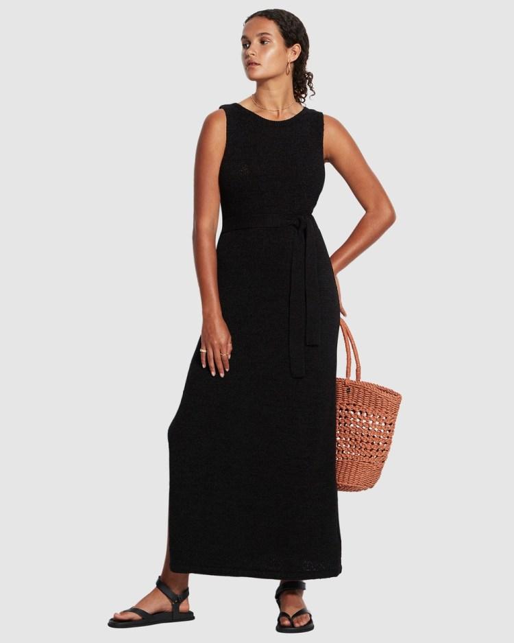 Seafolly Voyage Knit Dress Swimwear Black