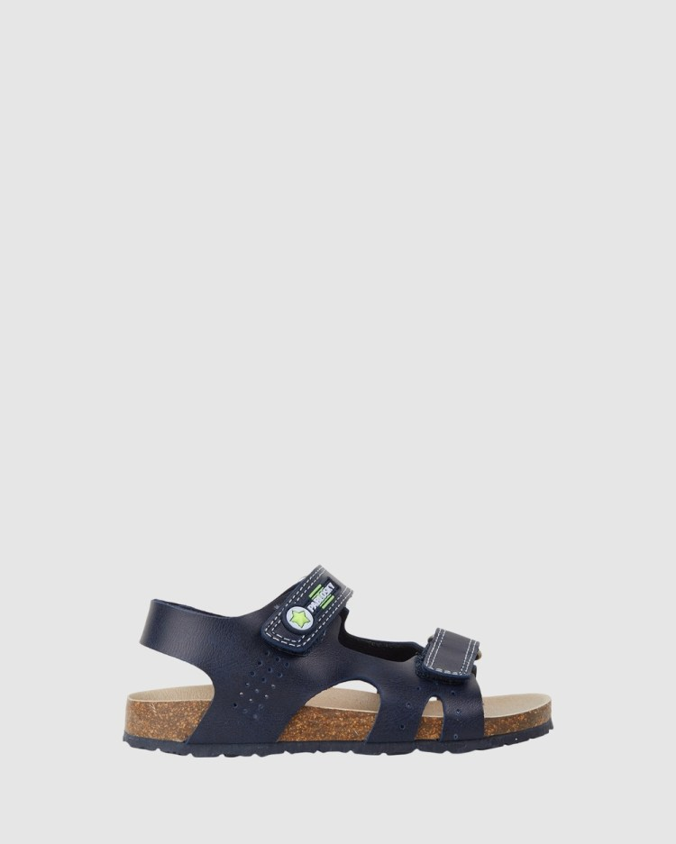 Pablosky Open Sandals Youth Navy/Lime