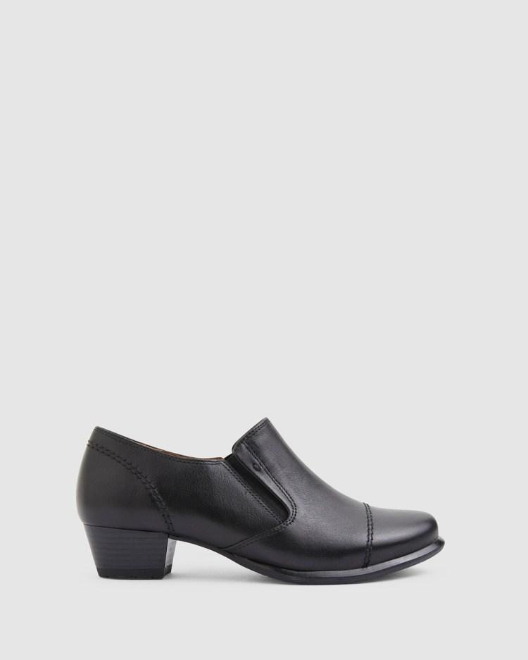 Wide Steps Dave Mid-low heels BLACK