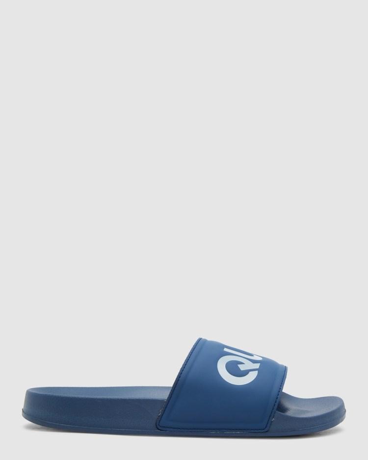 Quiksilver Mens Sesssions Slide Slider Sandals BLUE/GREY/BLUE