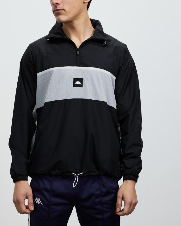 Kappa Authentic Jpn Elik Jacket Coats & Jackets Black White