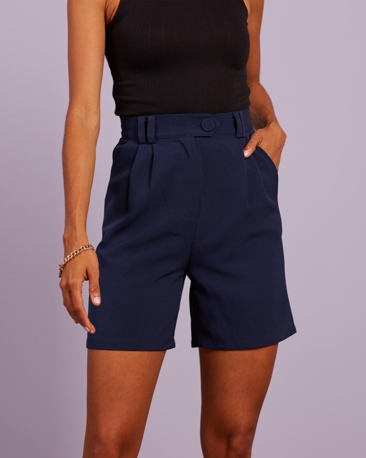 4th & Reckless Zane Shorts High-Waisted Navy