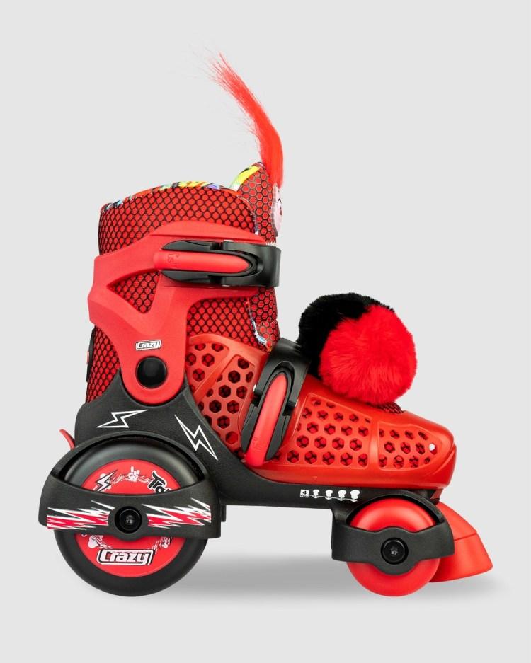 Crazy Skates Trolls World Tour Size Adjustable Klip Klop Skate Performance Shoes Black/Red