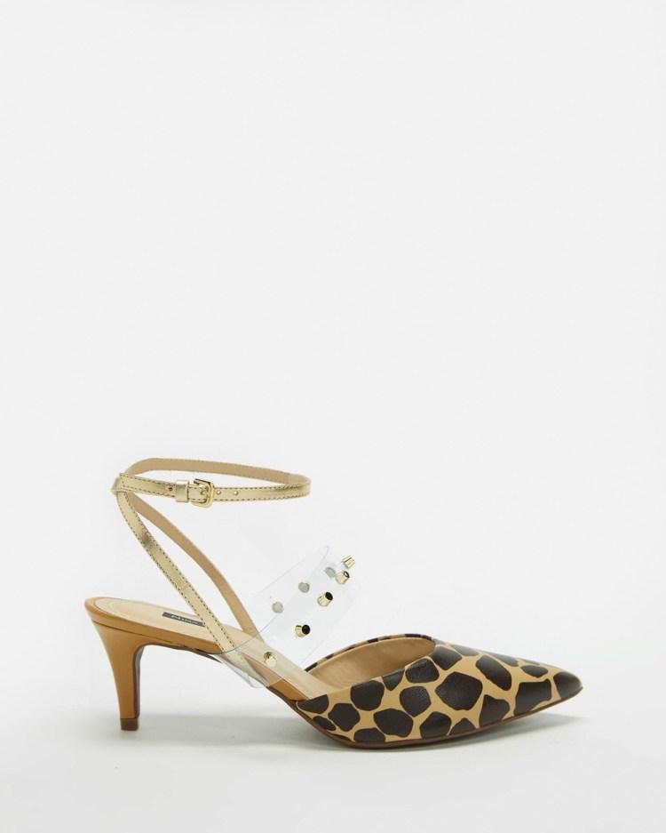Nina Armando Gabby Mid-low heels Giraffe Print