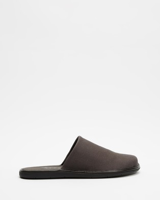 AERE Organic Canvas Slippers & Accessories Charcoal