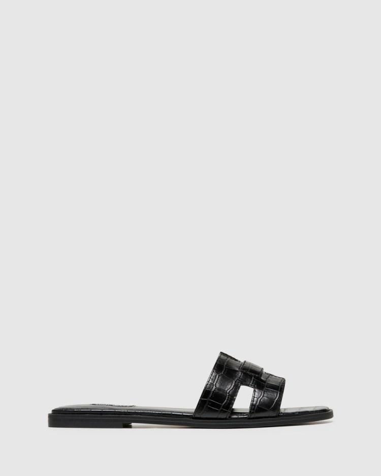 Nine West Gianna Sandals BLACK CROC