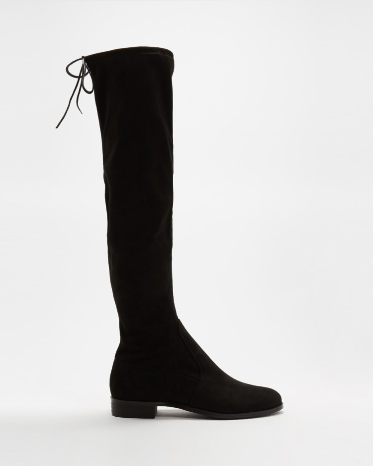 SPURR Xena Boots Black Microsuede