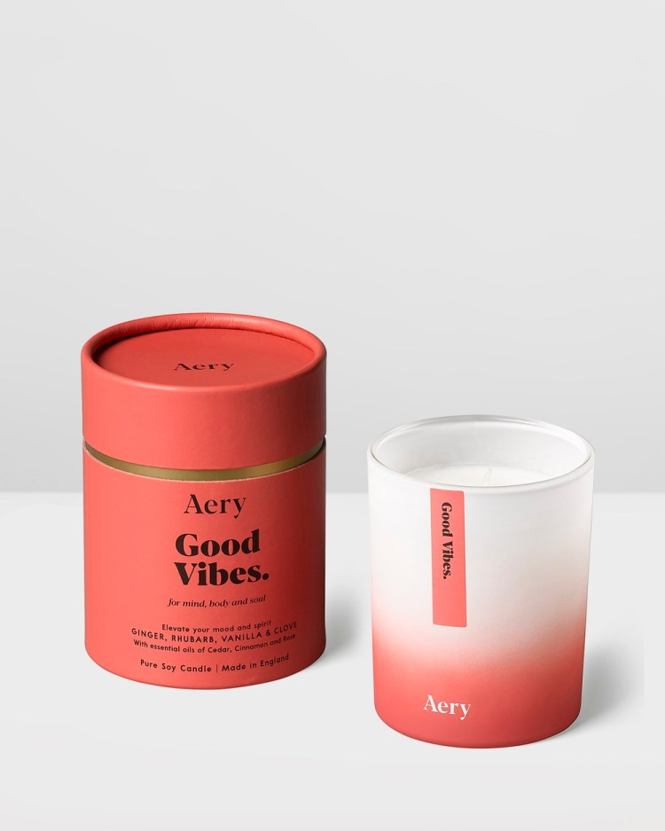 Aery Living Aromatherapy 200g Soy Candle Wellness Red