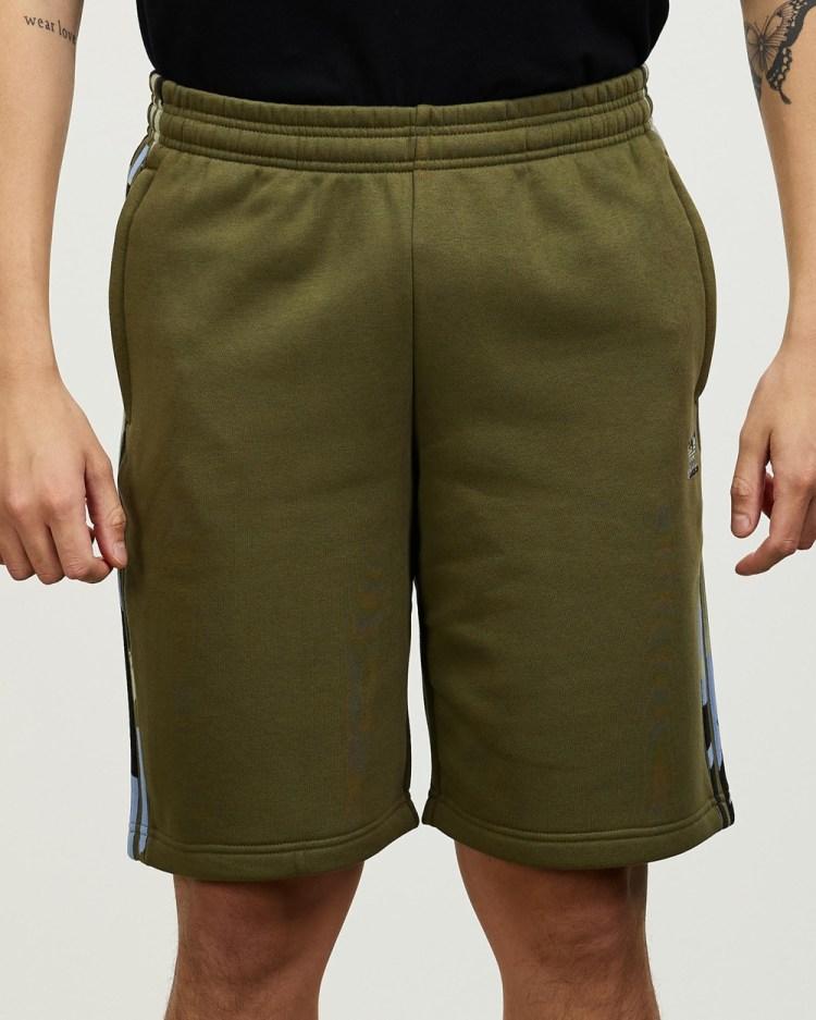 adidas Originals Graphics Camo Shorts Focus Olive