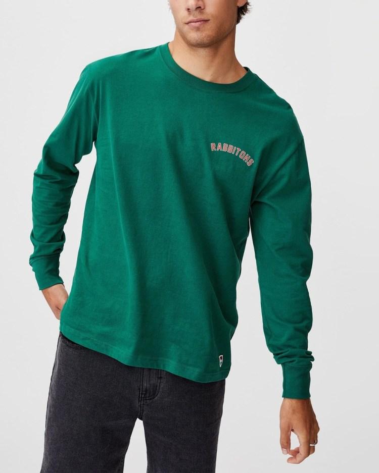 Cotton On NRL Rabbitohs Number Long Sleeve Top T-Shirts Rabbitohs