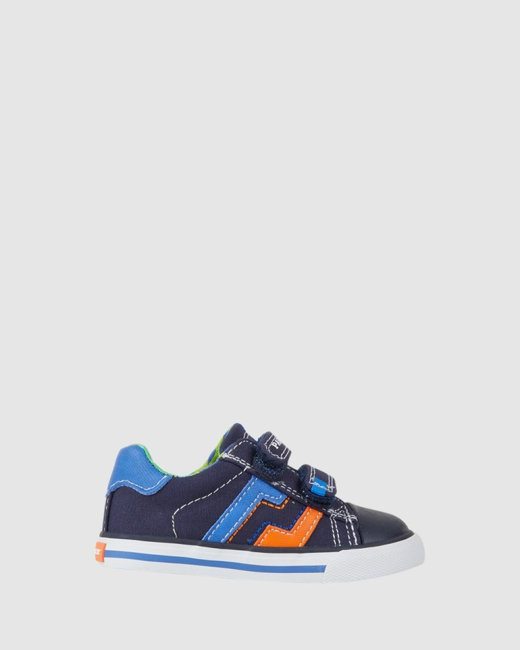 Pablosky Zigzag Canvas Infant Sneakers Navy