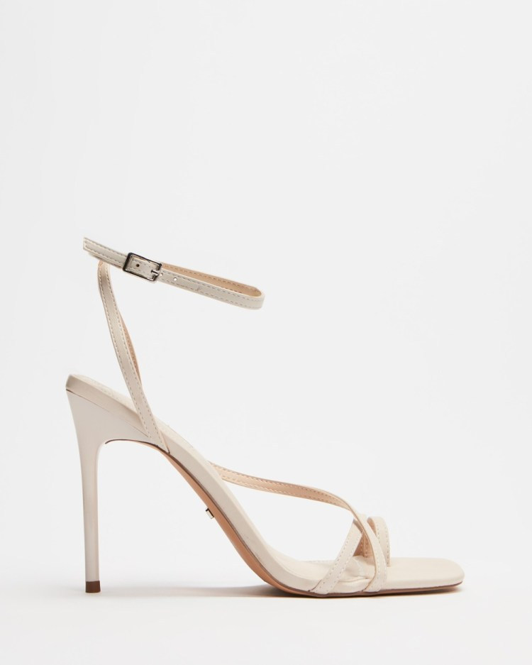 TOPSHOP Rise Strappy High Heels Sandals Off White