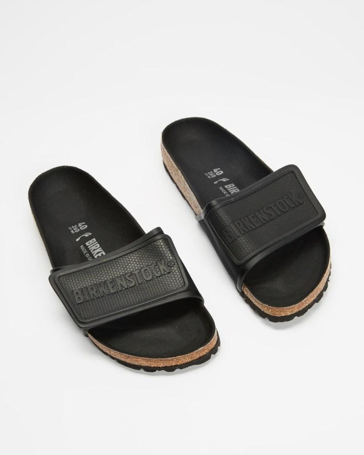 Birkenstock Tema Microfiber Narrow Women's Slides Black