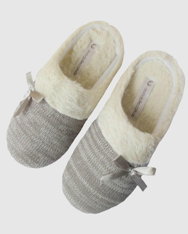 Deshabille Sleepwear Slippers & Accessories Grey