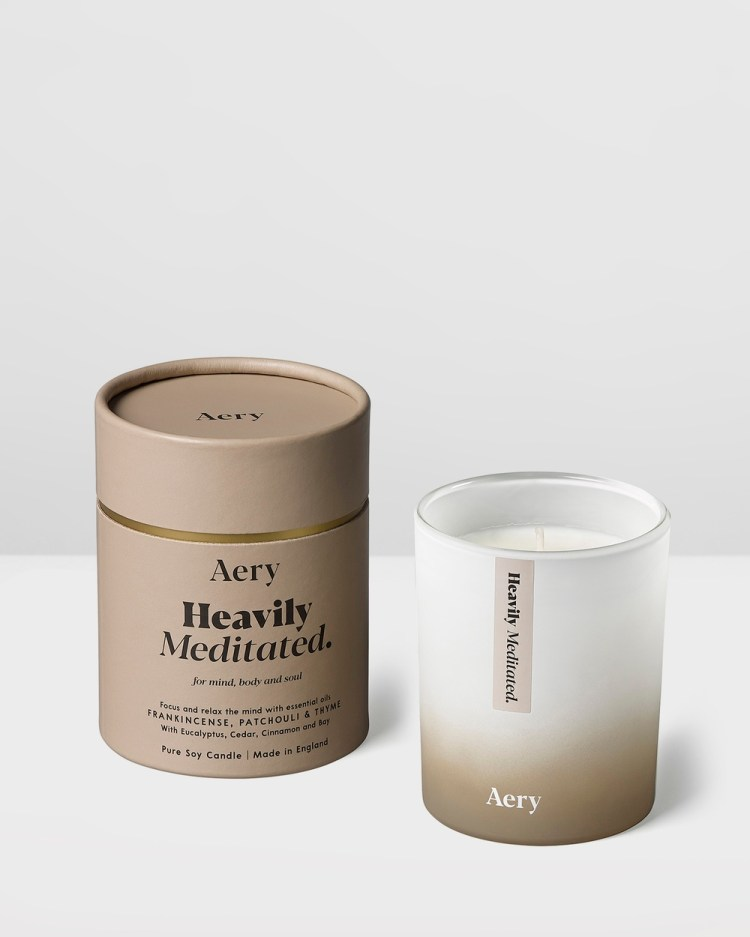 Aery Living Aromatherapy 200g Soy Candle Candles Beige