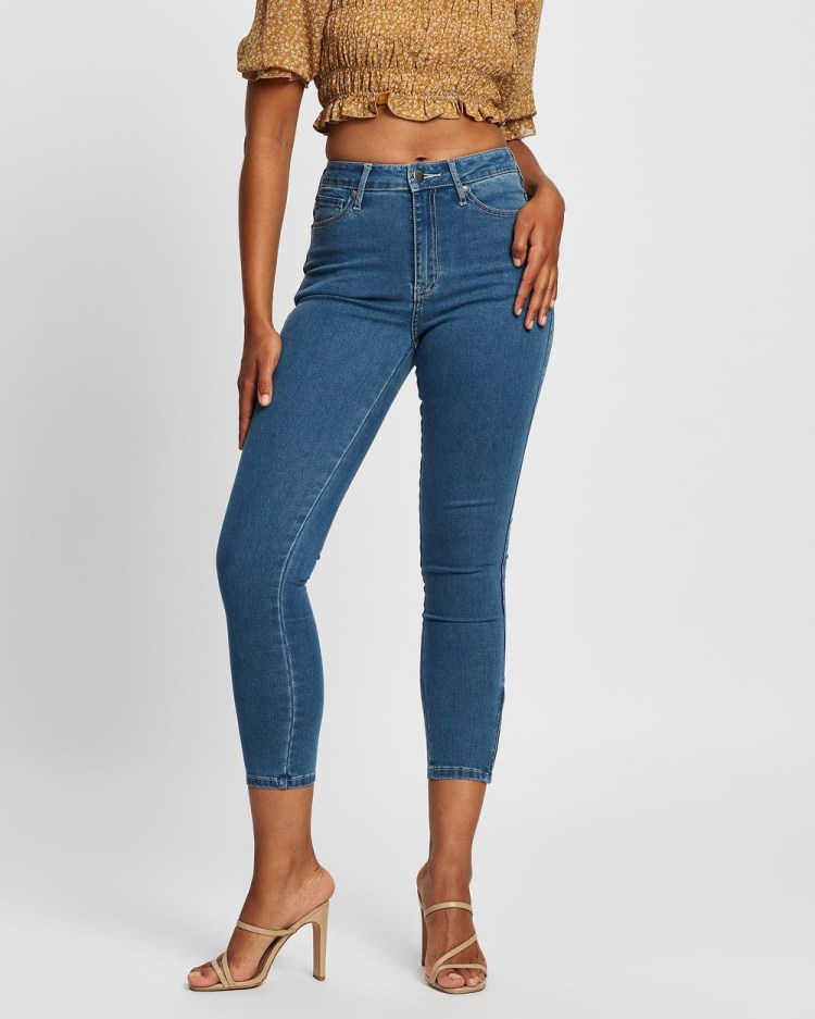 All About Eve Isabella Ankle Grazer Jeans Crop BLUE